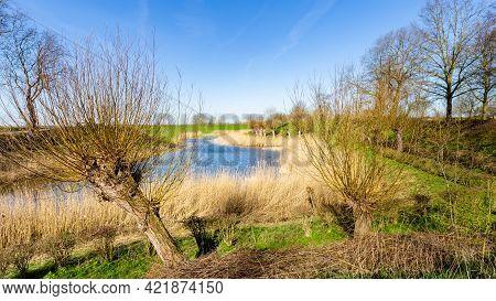 Scenics Around Fort Everdingen In The Netherlands