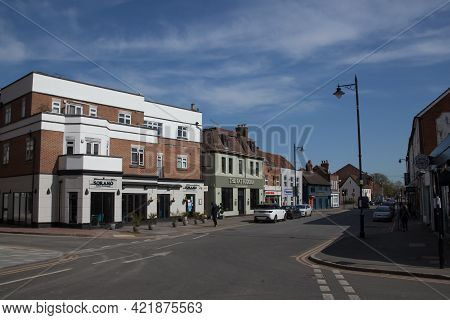 Shops And Restaurants In Maidenhead, Berkshire In The Uk, Taken 30th March 2021