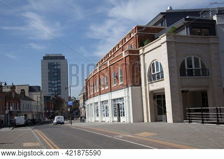 Modern Buildings In Maidenhead Town Centre, Berkshire In The Uk, Taken 30th March 2021
