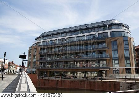 Modern Apartments Above The Coppa Club, In Maidenhead In The Uk, Taken 30th March 2021