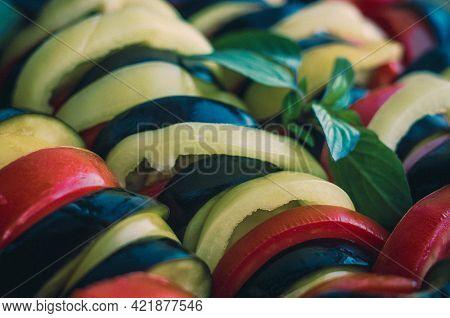 Ratatouille Diet Vegetarian Vegan Food - A Traditional French Provencal Vegetable Dish, Raw Ingredie