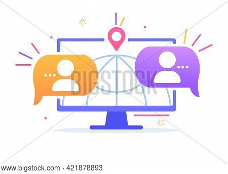Distant Education, Training Test, Video Lecture, Internet Group Conference, Work From Home, Easy Com