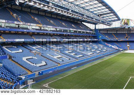 London, United Kingdom - February 1, 2018: Stamford Bridge Stadium In Chelsea, London. Stamford Brid