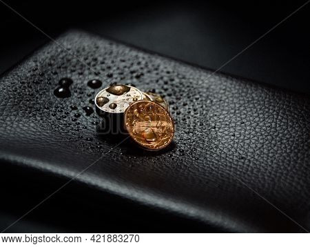 Gold Pennies On The Wallet. Gold Is A Wonderful Currency