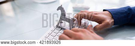 Trojan Horse Computer Virus Crime Attack. Cyber Technology