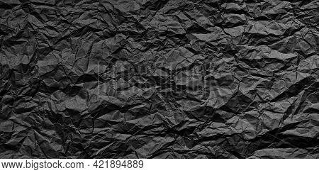 Black Grunge Crumpled, Paper Texture Crumpled, Background