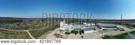 Paris, Ontario/canada- May 11: An Aerial Panorama Of Paris, Ontario, Canada Factory And Town On [may