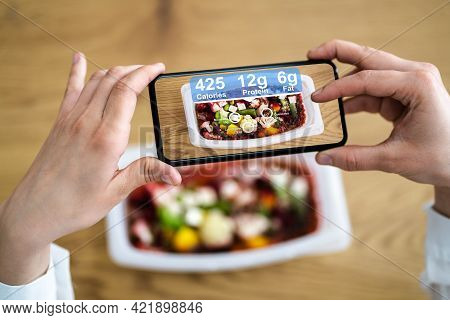 Food Ar Information Technology App. Interactive And Virtual