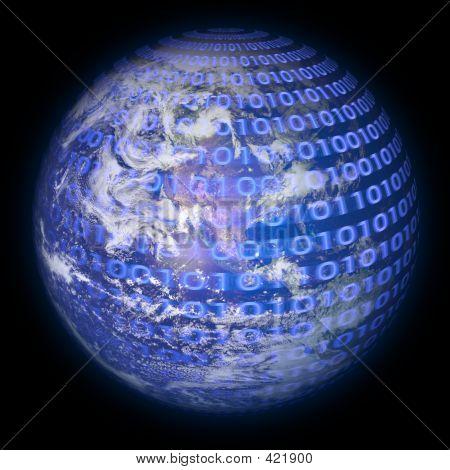 Binary Code Planet Earth
