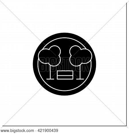 Park Symbol Glyph Icon. Public Park Location. National Park, Forestry Sign. Public Place Navigation.