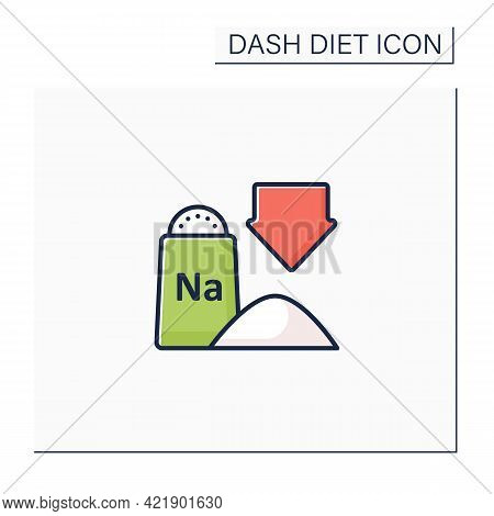 Low Sodium Color Icon. Exclude Processed And Packaged Foods. Chips, Frozen Dinners And Fast Food. Wi