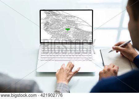 Cadastre City Building Survey Map And Valuation Plan