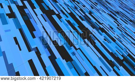 Background Of Moving Stripes Changing Color. Motion. Simple Animation With Fast-moving Stream Of Str
