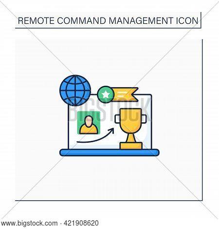 Reward Achievement Color Icon. Good Job. Rewarding. Employer Growth. Best Results.remote Management
