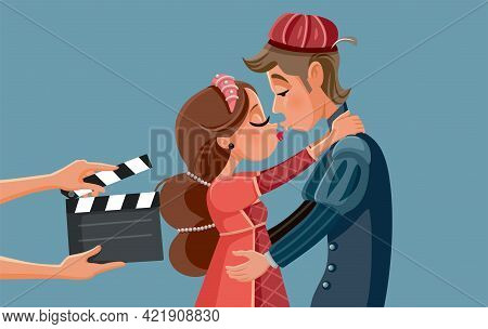 Romeo And Juliet Movie Adaptation Vector Illustration