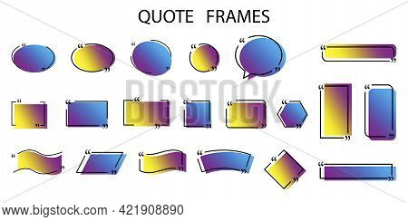 Quotation Dialogue Speech Bubble. Vector Illustration. Stock Image.