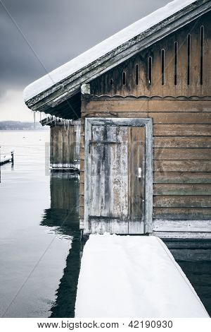 An image of the Starnberg Lake in Bavaria Germany - Tutzing Feb. 2013