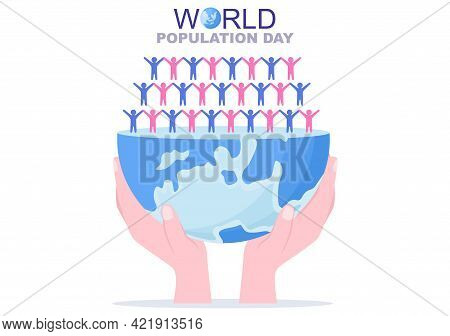 World Population Day Vector Illustration Commemorated Every 11Th July To Raise Awareness Of Global P