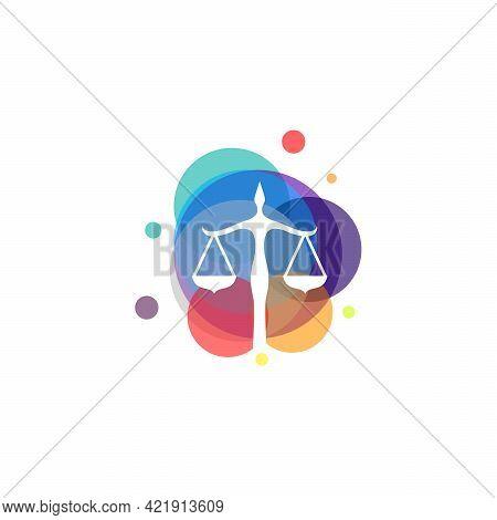 Colorful Law Scale Symbol Vector, Arbitrator Symbol Designs Template, Design Concept, Symbol, Symbol