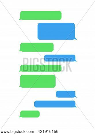 Message Bubbles Chat Icon. Template For Messenger Chat Box On White Background. Vector Illustration