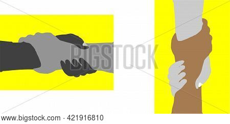 Helping Hand Vector Isolated On Background , People, Person, Power, Relation