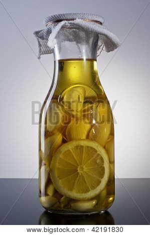 amazing fragrant tangy homemade infused garlic lemon olive oil