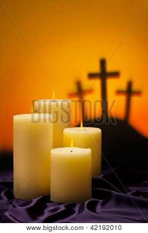 Three Crosses Candles Of Hope