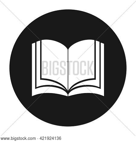 Open Book Icon. Black-white Open Book Icon. Vector Cartoon Illustration. Vector.
