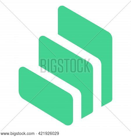 Compound Comp Token Symbol Cryptocurrency Logo, Coin Icon Isolated On White Background. Vector Illus