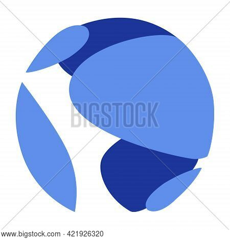 Terra Luna Token New Symbol Cryptocurrency Logo, Coin Icon Isolated On White Background. Vector Illu