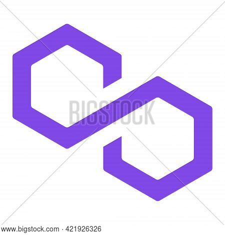 Polygon Matic Token New Symbol Of The Defi Project Cryptocurrency Logo, Decentralized Finance Coin I