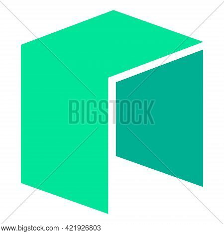 Neo Token Symbol Of The Defi Project Cryptocurrency Logo, Decentralized Finance Coin Icon Isolated O