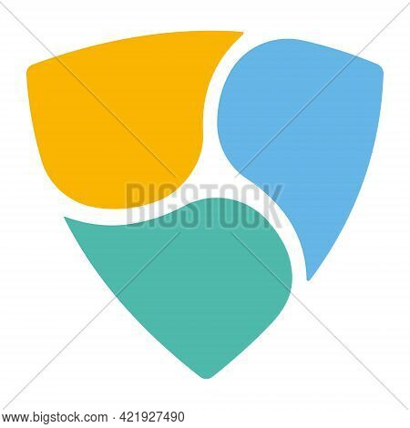 Nem Xem Token Symbol Of The Defi Project Cryptocurrency Logo, Decentralized Finance Coin Icon Isolat