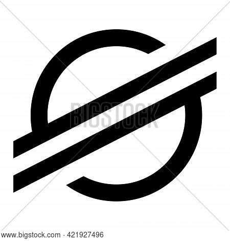 Stellar Xlm Token Symbol Of The Defi Project Cryptocurrency Logo, Decentralized Finance Coin Icon Is