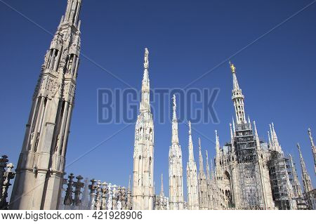 View Of The Duomo In Milan, Lombardy, Italy