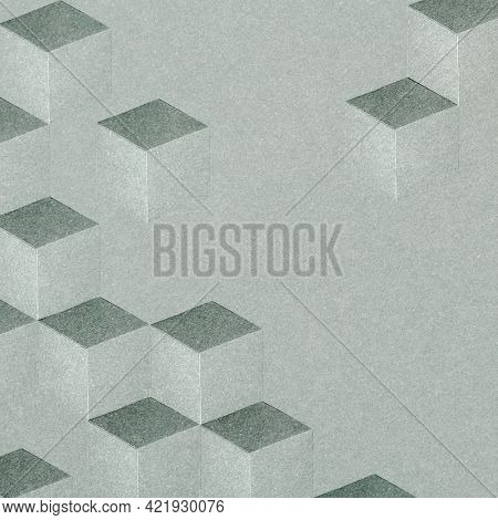 3D gray cubic patterned background