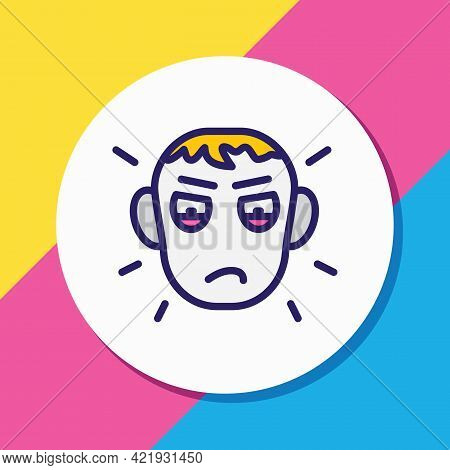 Vector Illustration Of Jealousy Icon Colored Line. Beautiful Emotions Element Also Can Be Used As En