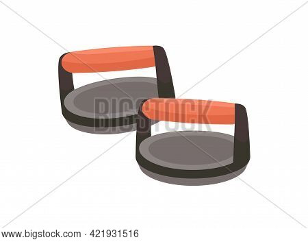 Push-up Bars With Handles For Pushup Exercise. Ergonomic Home Equipment For Safe Press-up Workout. C