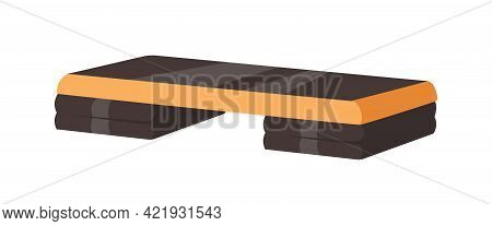 Adjustable Step Platform Or Board For Aerobics And Fitness. Equipment For Workout In Gym And Sport C