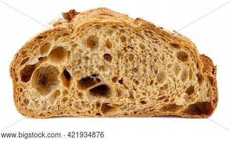 Sliced Loaf Of Bread Isolated On White Background.