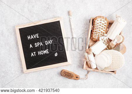 Home Spa Day Idea. Eco Friendly Organic Reusable Self Care Accessories.