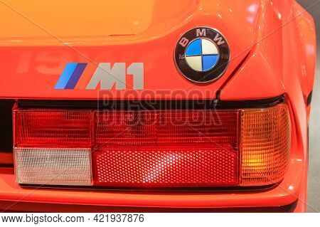 Germany, Munich - April 27, 2011: The Back Of The Bmw M1 In The Bmw Museum Exhibition Hall