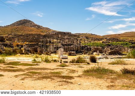 Excavations And Ruins On Delos Island - Mythological, Historical, And Archaeological Site In Greece