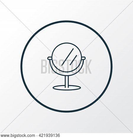 Mirror Icon Line Symbol. Premium Quality Isolated Vanity Element In Trendy Style.