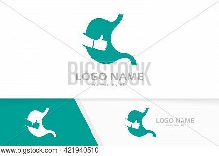 Vector Stomach And Like Logo Combination. Gastrointestinal Tract Logotype Design Template.