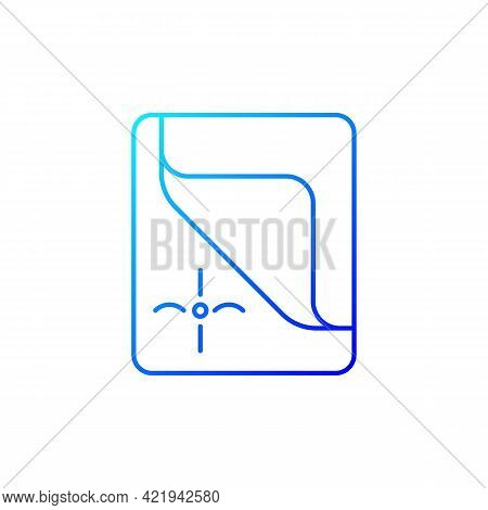 Mattress Cover Gradient Linear Vector Icon. Bed Duvets. Soft Clean Sheets. Dust Protector. Textile P
