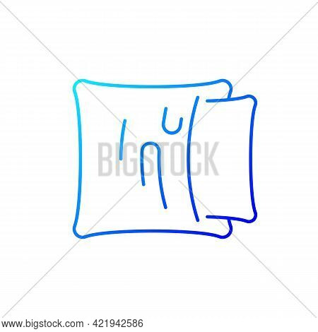 Pillowcase Gradient Linear Vector Icon. Comfortable Cushion For Bed. Pillow Cases. Textile Products,