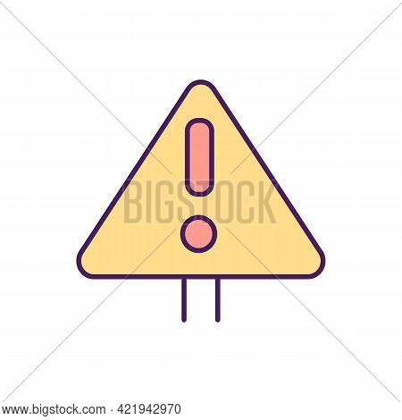 Danger Alert Rgb Color Icon. Isolated Vector Illustration. Informing People About Dangerous Diseases