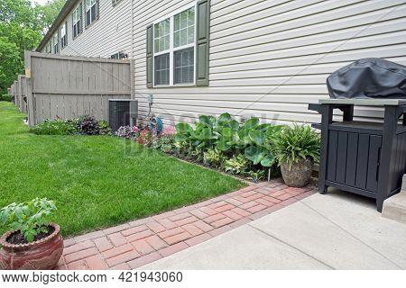 Condo Back Yard Garden Area