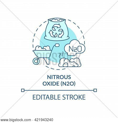 Nitrous Oxide Concept Icon. N2o Abstract Idea Thin Line Illustration. Greenhouse Gas. Human, Animal